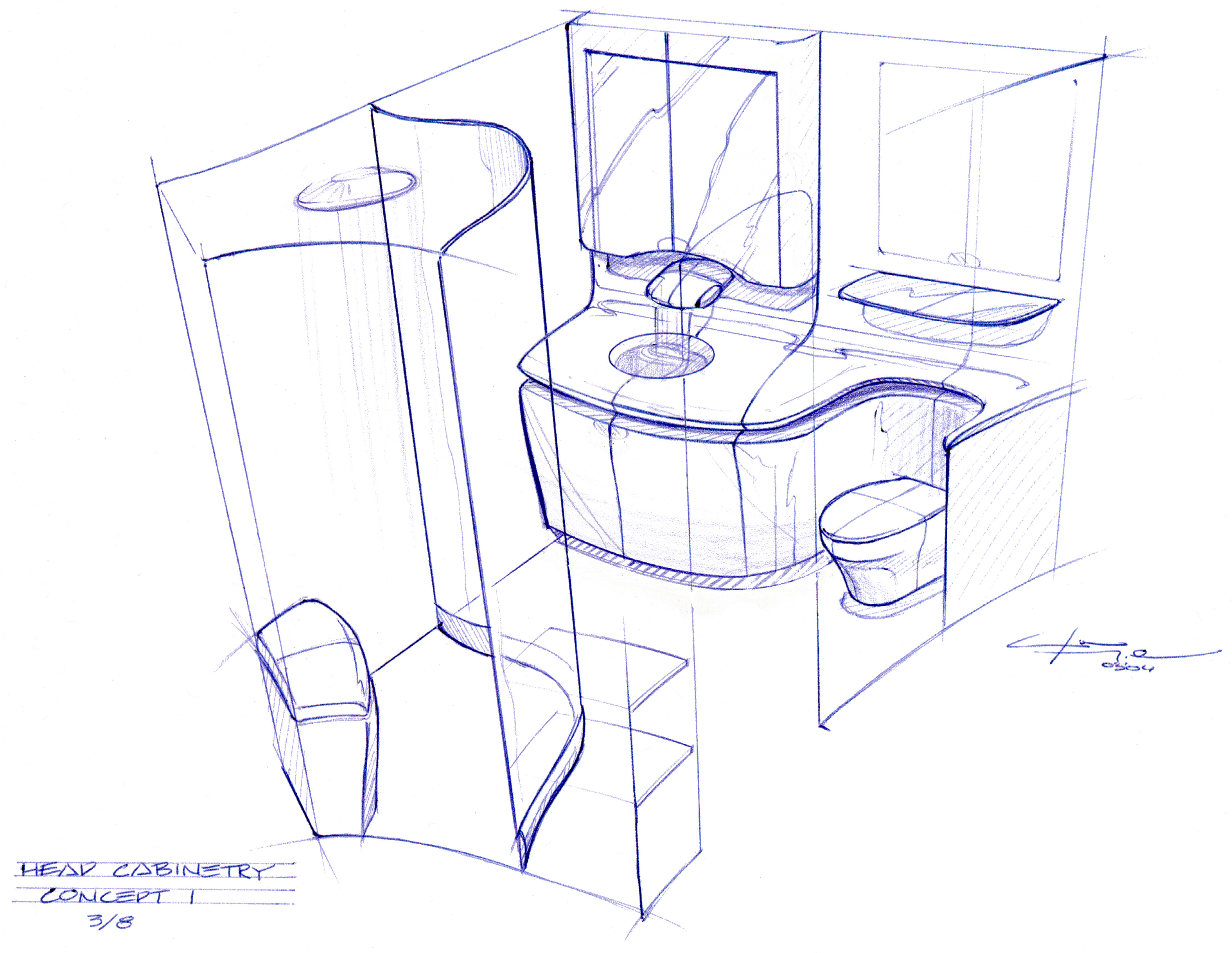 head cabinetry concept 1 - Architectural Design Interior