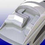 F&S 75' bridge 3D model/rendering